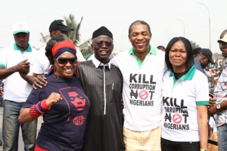 Femi Kuti at #OccupyNigeria protes